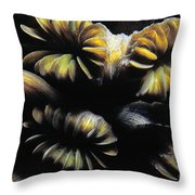 Coral Close Up Throw Pillow