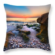 Coral Dawn Throw Pillow