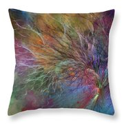 Coral Depths Throw Pillow