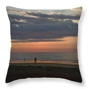 Coral Haze Sunrise Throw Pillow