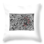 Coral Implodes With Human Touch...you Decide Throw Pillow