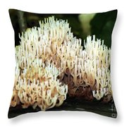 Coral Mushroom  Throw Pillow