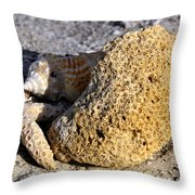 Coral On Shore Throw Pillow