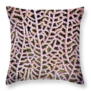 Coral Pattern Throw Pillow