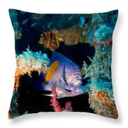 Coral Reef In Red Sea Throw Pillow
