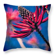 Coral Tree Flower Throw Pillow