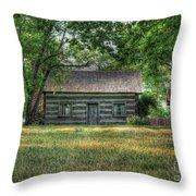 Corbett's Cabin Throw Pillow by Pamela Baker