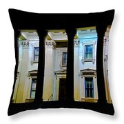 Corinthian Rainbow Throw Pillow