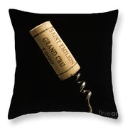 Cork Of Bottle Of Saint-emilion Throw Pillow