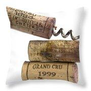 Cork Of French Wine Throw Pillow by Bernard Jaubert