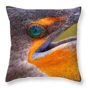 Cormorant Abstract Throw Pillow