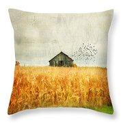 Corn Fields Of Kentucky Throw Pillow by Darren Fisher