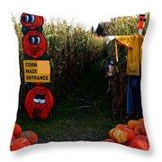 Corn Maze Throw Pillow