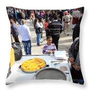 Corn Of The Cob Salesman Throw Pillow