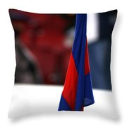 Corner Flag Of Camp Nou Throw Pillow