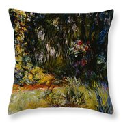 Corner Of A Pond With Waterlilies Throw Pillow