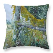 Corner Of Lace And Vine Throw Pillow
