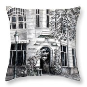 Corner Tea Throw Pillow