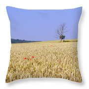 Cornfield With Poppies Throw Pillow