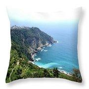 Corniglia Cinque Terre And Vineyards Throw Pillow