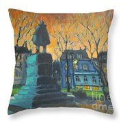 Cornwallace Statue Throw Pillow