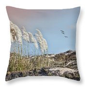 Coronado Island Pampas Grass Throw Pillow