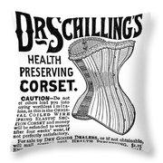 Corset Advertisement, 1887 Throw Pillow
