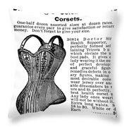 Corset Advertisement, 1895 Throw Pillow