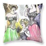 Corset Ladies Throw Pillow