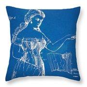 Corset Patent Series 1877 Throw Pillow