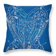 Corset Patent Series 1905 French Throw Pillow