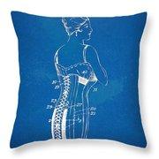 Corset Patent Series 1924 Throw Pillow