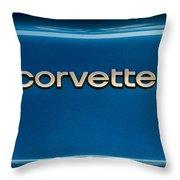 Corvette Badge Throw Pillow