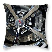 Corvette Chrome 60th Throw Pillow