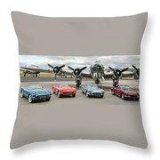 Corvette Club 01 Throw Pillow