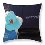 Corvette Crier Throw Pillow