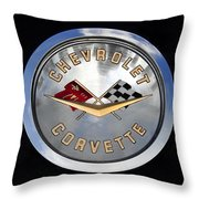 Corvette Name Plate Throw Pillow