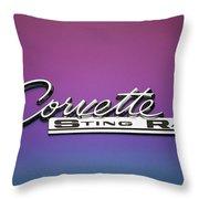 Corvette Sting Ray Emblem Throw Pillow