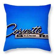 Corvette Stingray Throw Pillow