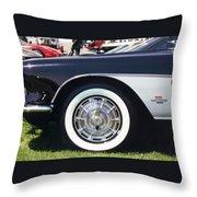Corvettes Throw Pillow