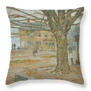 Cos Cob In November Throw Pillow by Childe Hassam