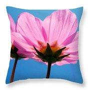 Cosmia Flowers Pair Throw Pillow