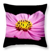 Cosmia Pink Flower Throw Pillow