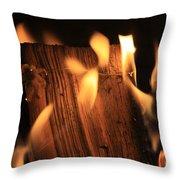 Cosmic Fire Throw Pillow