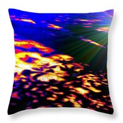 Cosmic Flare Throw Pillow