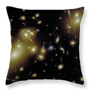 Cosmic Magnifying Glass Throw Pillow