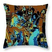 Cosmic Winter Blues 1975 Throw Pillow