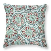 Cosmos Flower Bud Lm Throw Pillow