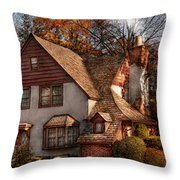 Cottage - Westfield Nj - Family Cottage Throw Pillow by Mike Savad