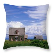 Cottage At Bay Of Chaleur Throw Pillow
